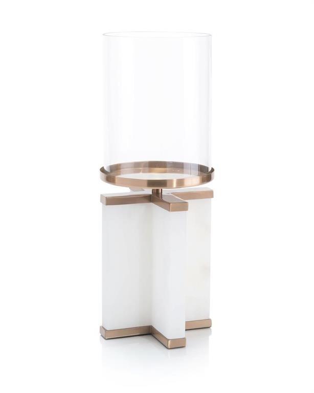Alhambra Alabaster Candleholder, Small