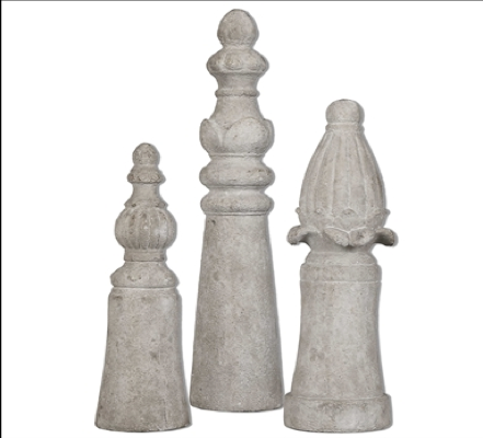 Asmund Finials, Set/3
