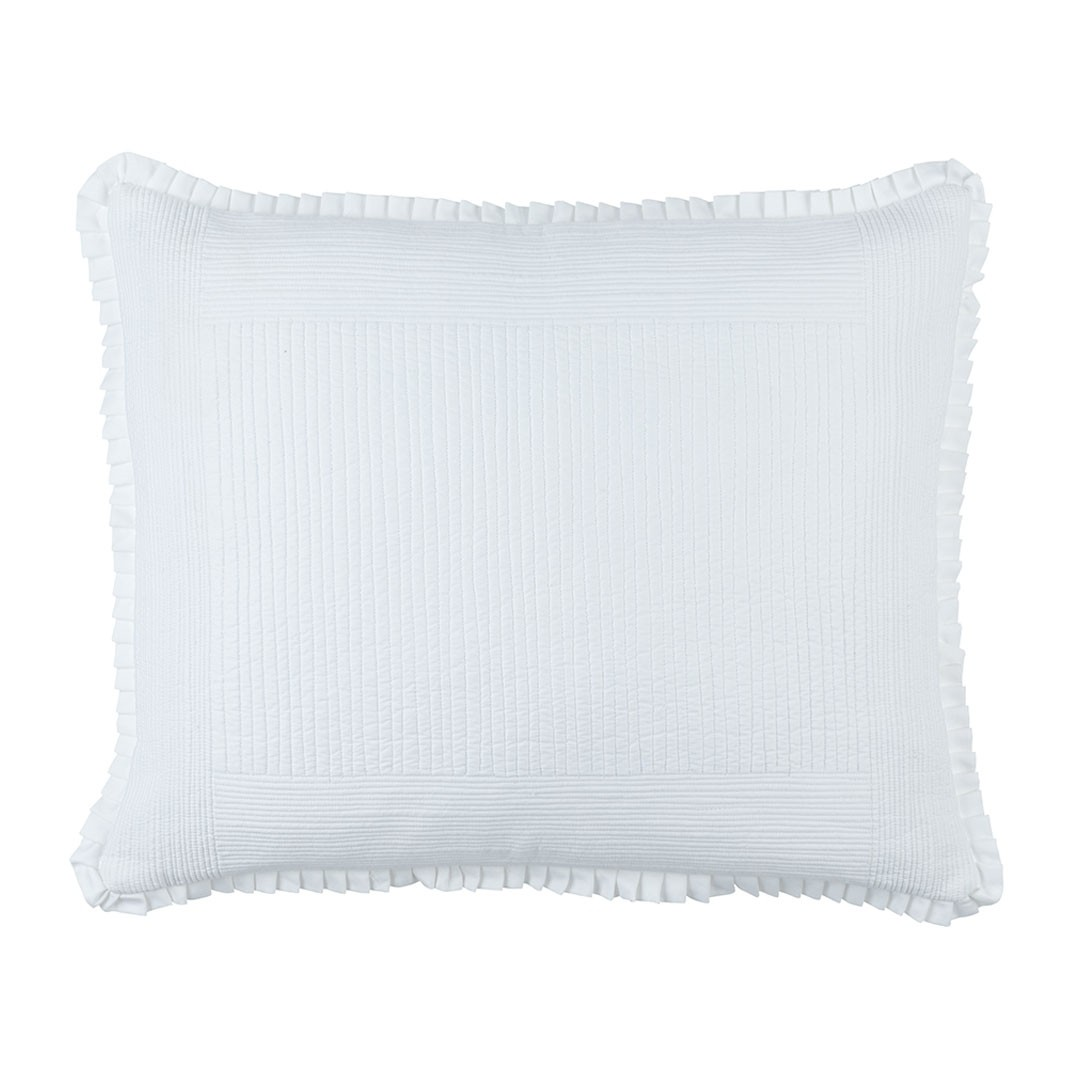 BATTERSEA LUXE EURO PILLOW WHITE COTTON 27X36