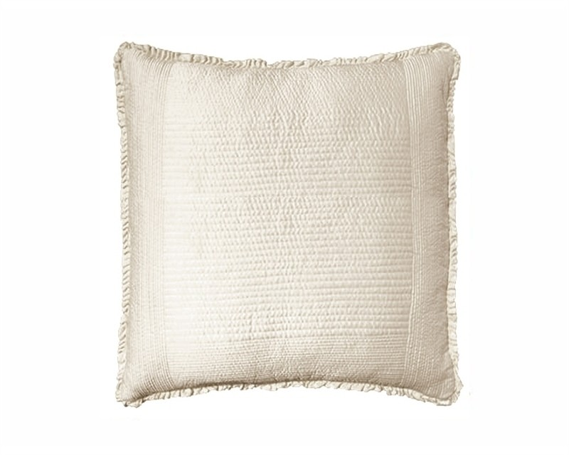 BATTERSEA EUROPEAN PILLOW / IVORY S&S 26X26