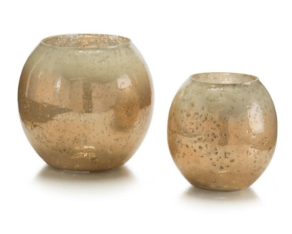 Carmel Glass Candleholders, Set/2