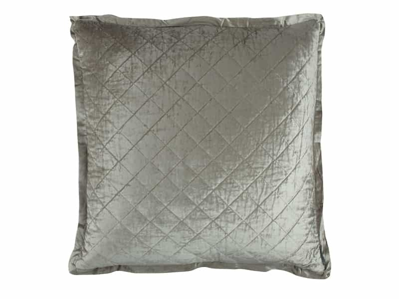 CHLOE EUROPEAN PILLOW / ICE SILVER VELVET 26X26