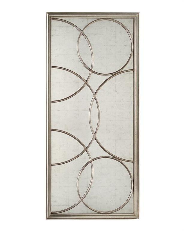 Cirella Eglomise Silver Oversized Decorative Mirror