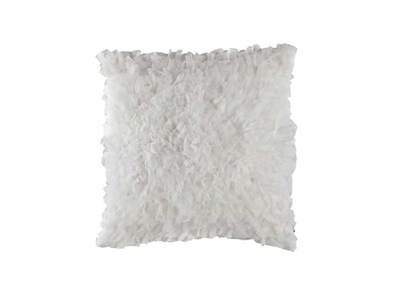 COCO SQ. PILLOW / WHITE SHEER 20X20