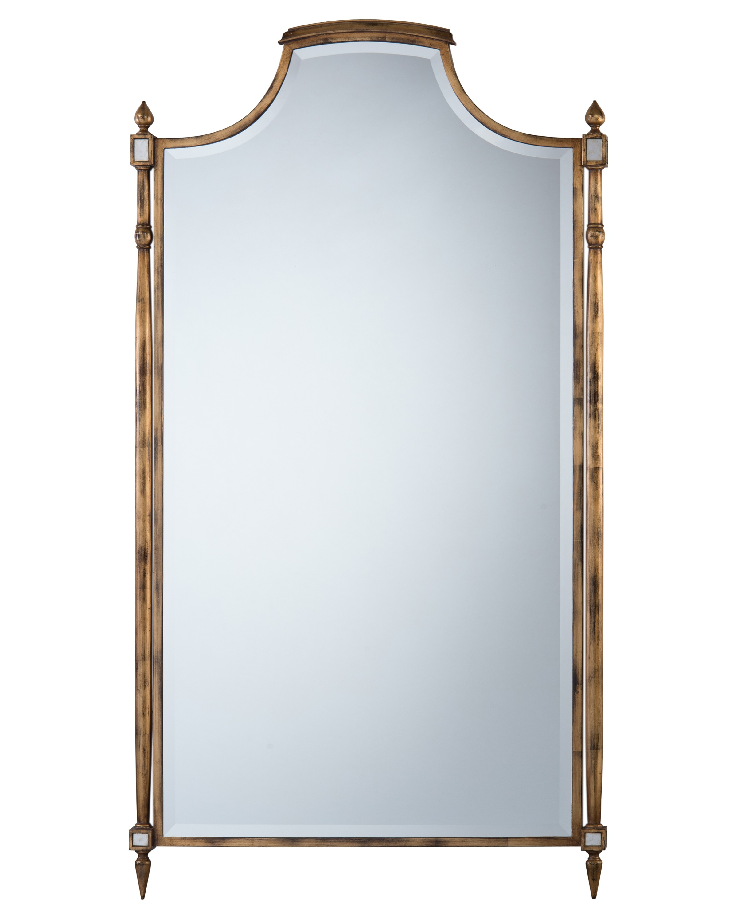 Conti Beveled Oversized Mirror w/Scalloped Top & Spires