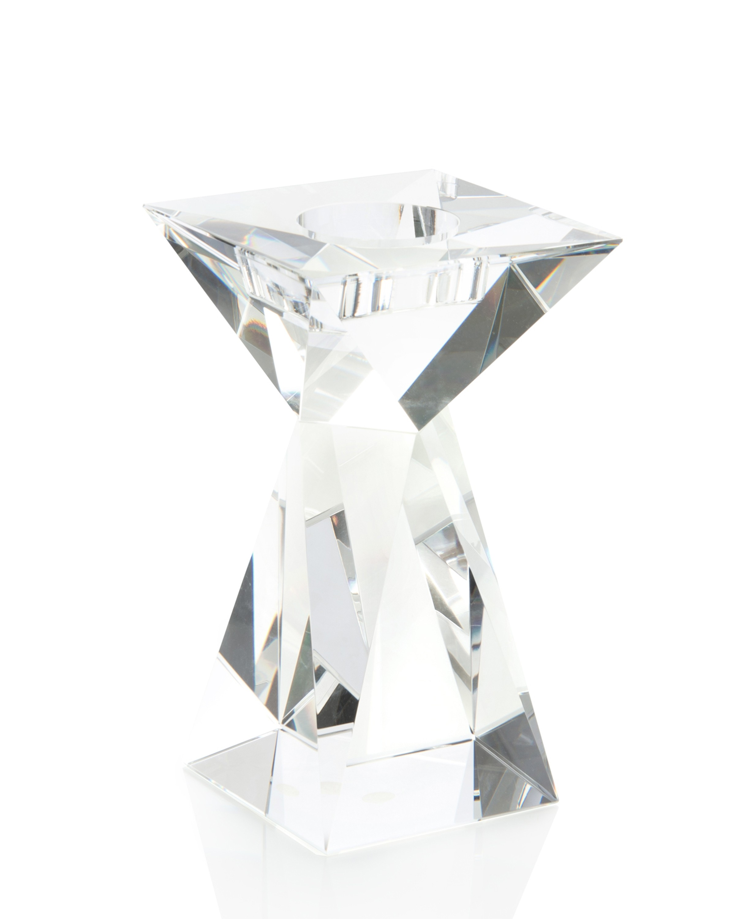 Crystal Tapered Candleholder, Sm
