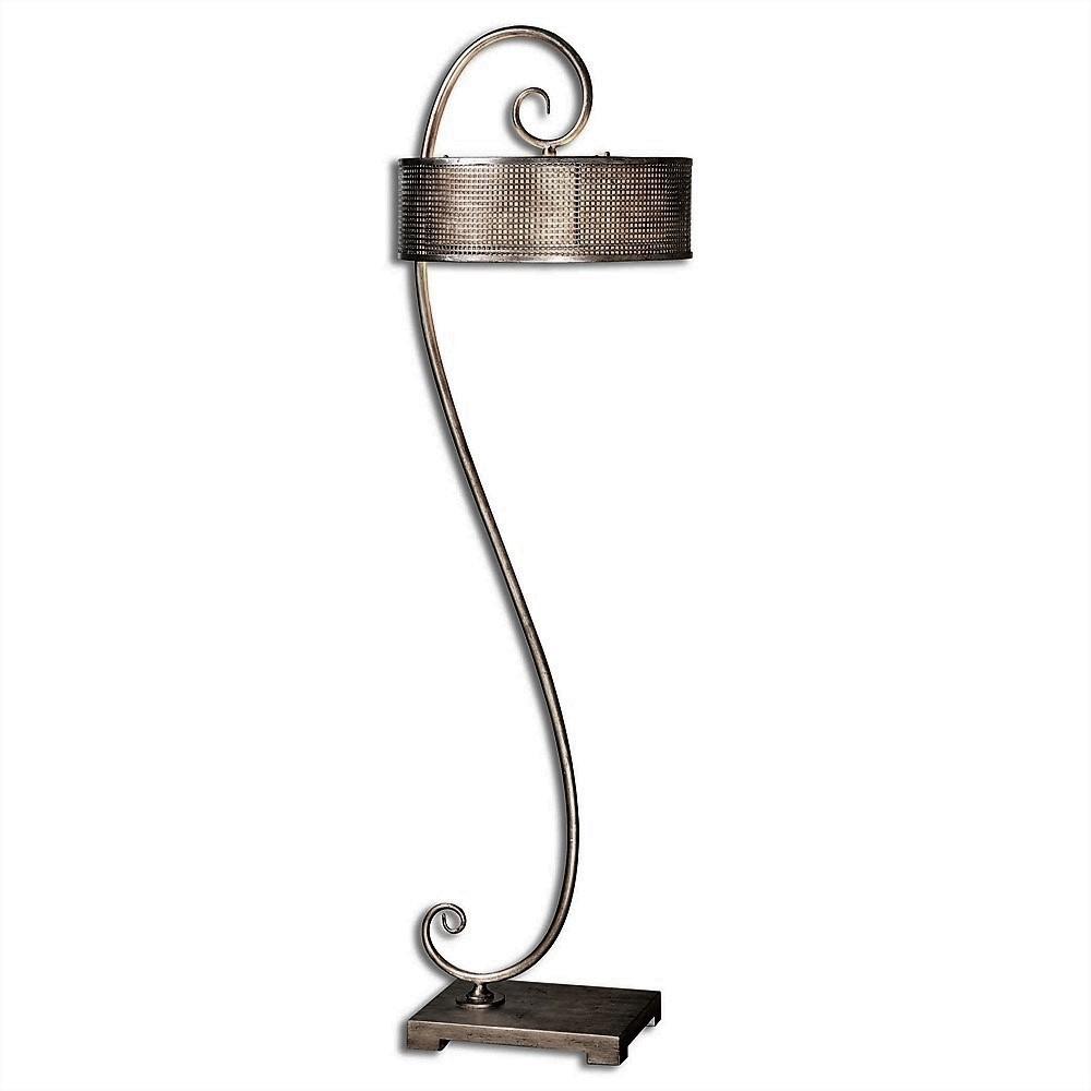 Dalou Silver Scroll Floor Lamp