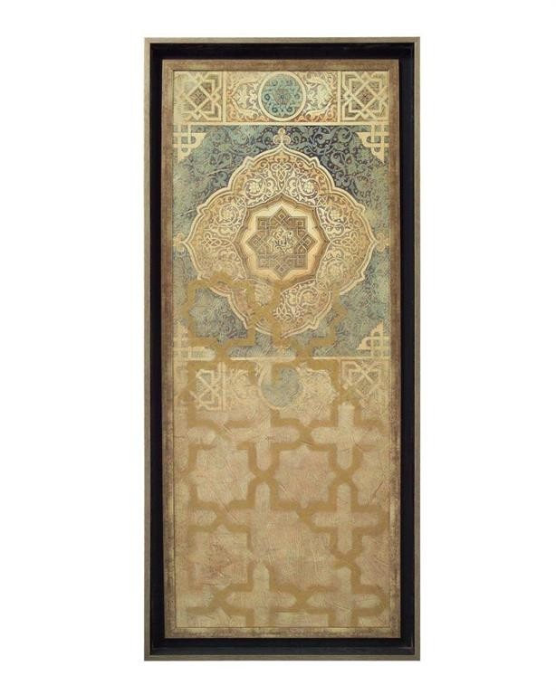 Embellished Tapestry I in Rich Blues & Gold