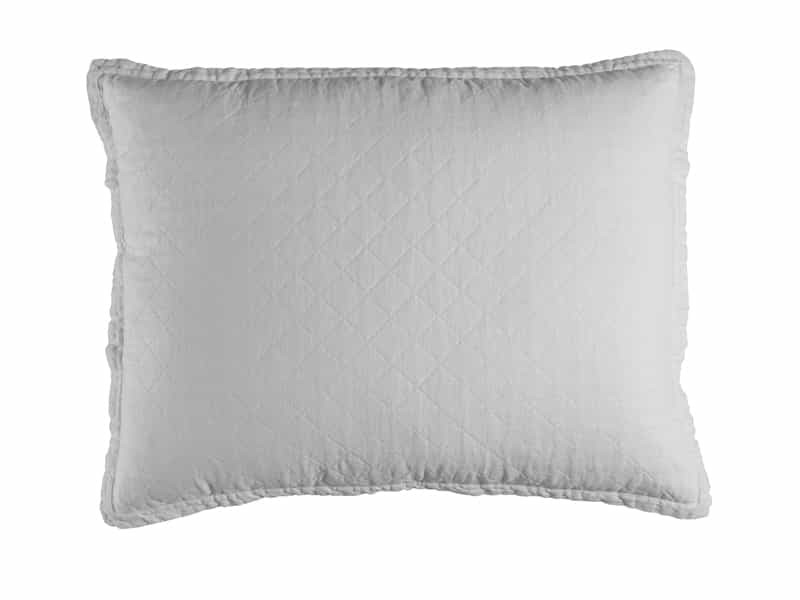 EMILY STANDARD PILLOW / WHITE LINEN 20X26