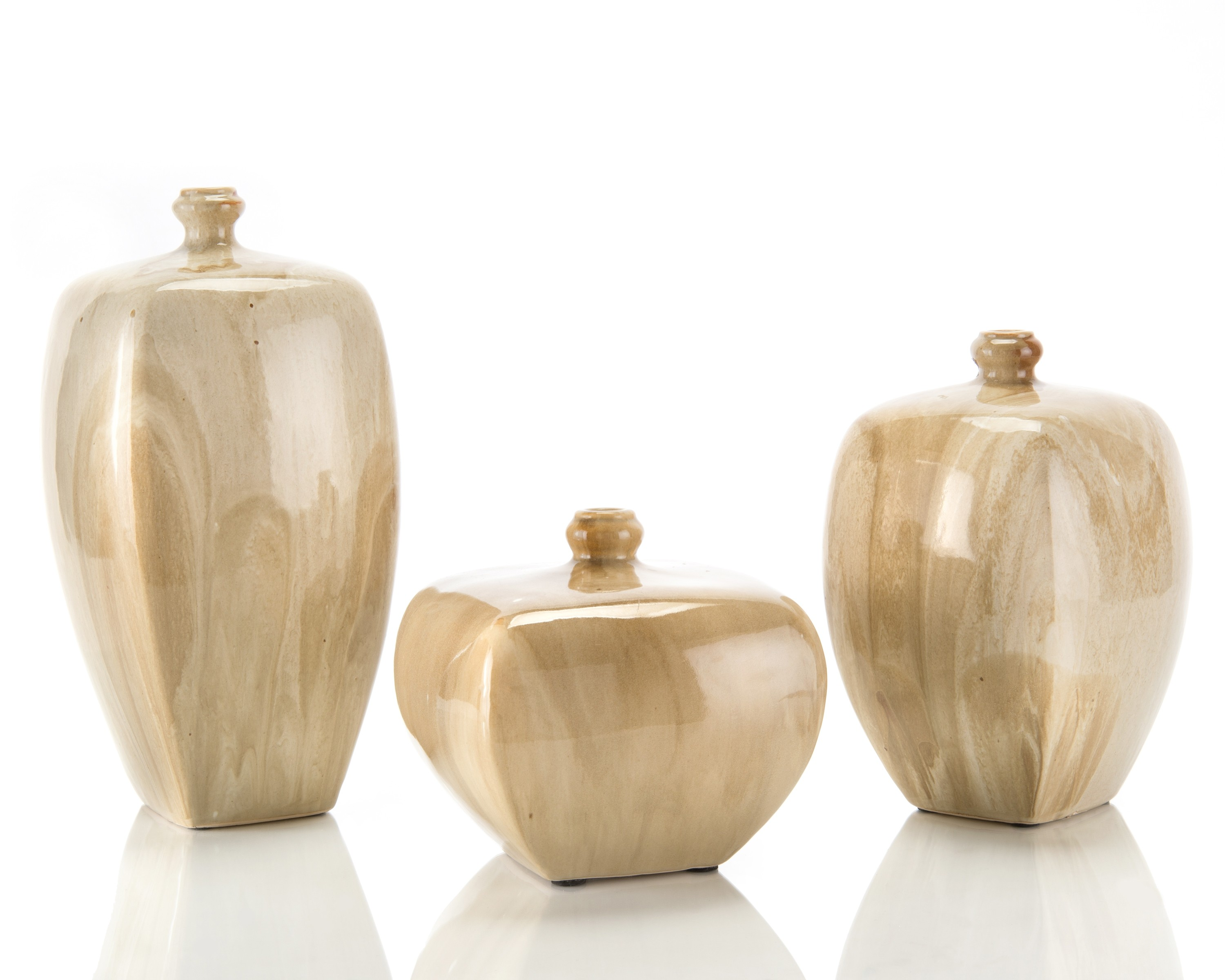 Faux Alabaster Vases, Set/3