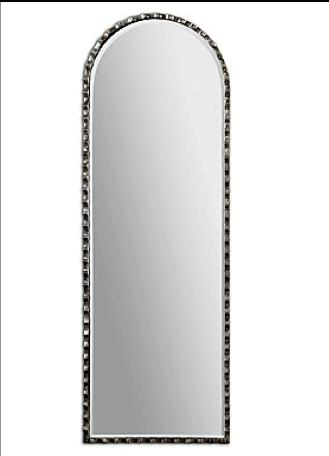 Gelston Scalloped Oversized Profile Mirror in Oxidized Silver Finish