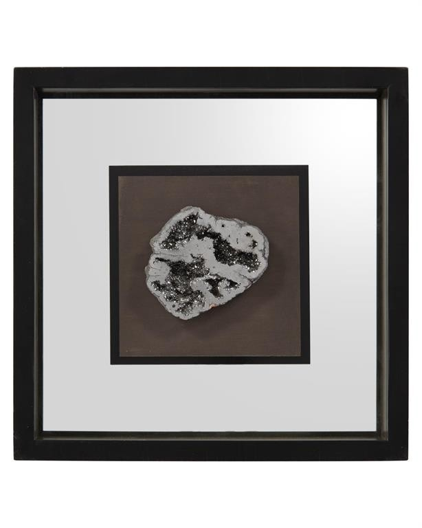 Geode's Silver Crystal I Shadow Box