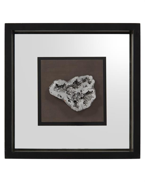 Geode's Silver Crystal II Shadow Box