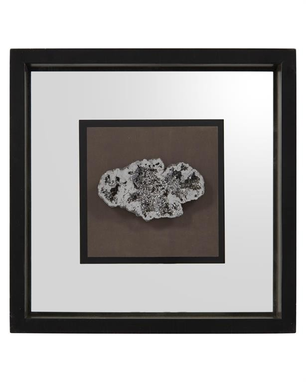 Geode's Silver Crystal III Shadow Box