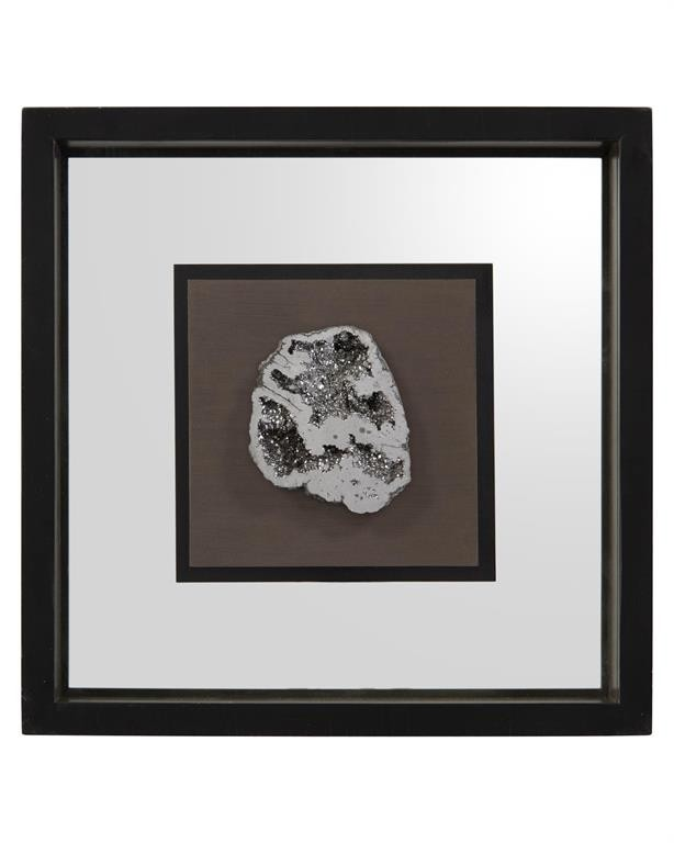 Geode's Silver Crystal IV Shadow Box