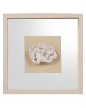 Geode's White Crystal IV Shadow Box
