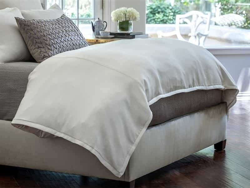GIA KING DUVET IVORY COTTON & SILK 112X98