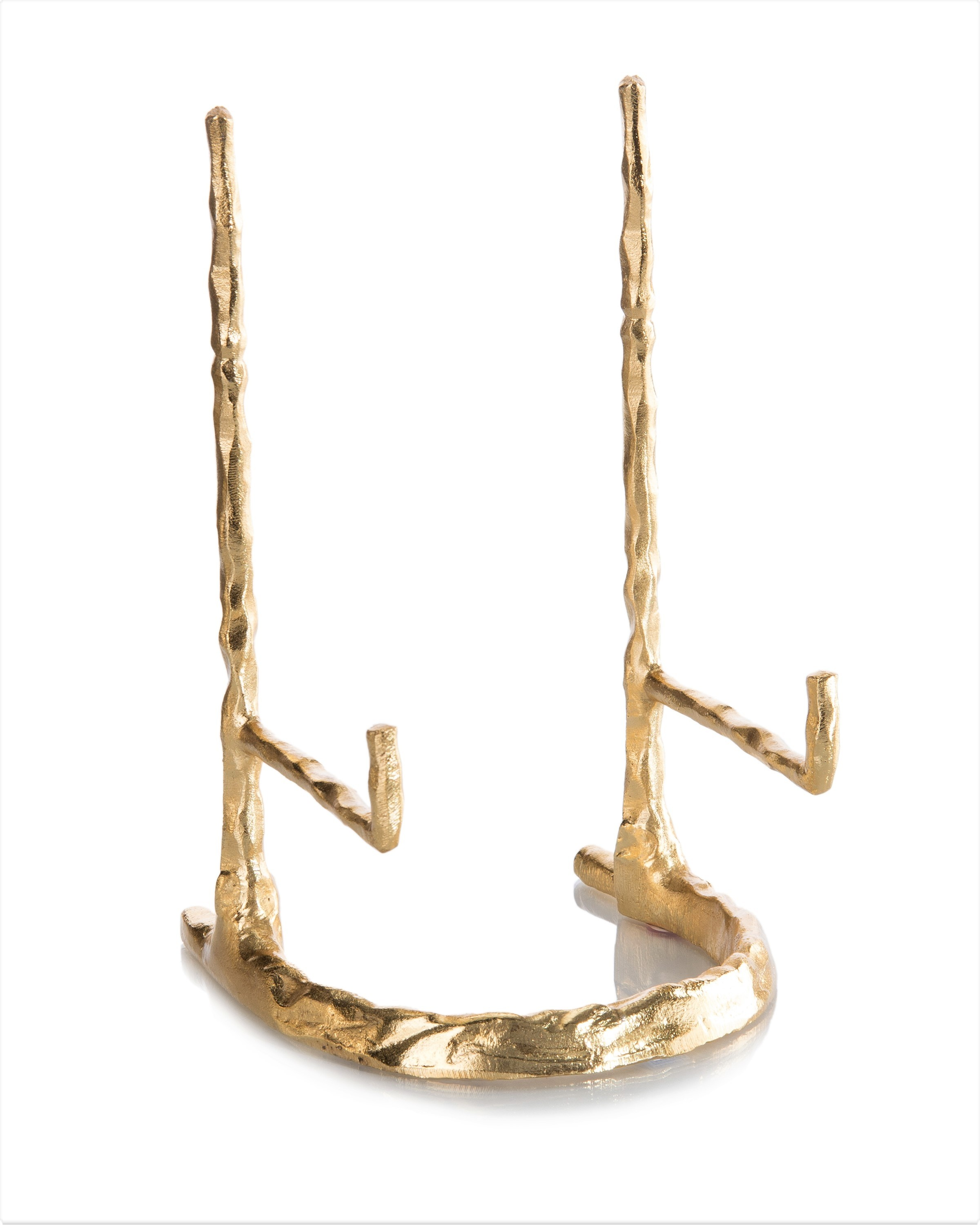 """12 x 6.5 x 5"""" Giacometti Gold Plate Stand"""