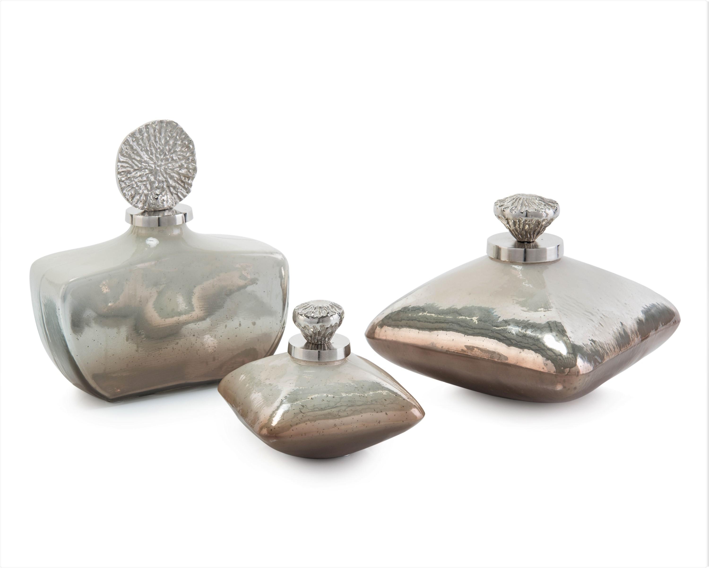 Iceland Jars w/Medallion Lids, Set/3