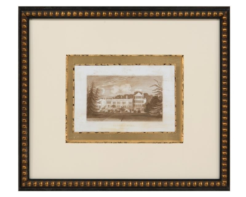 Jones VI European Sepia Print of Weston Hall