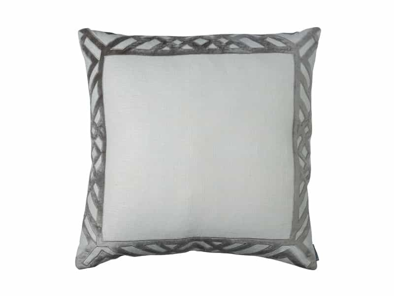 KARL EUROPEAN PILLOW / IVORY BASKET WEAVE / PLATINUM VELVET 28X28