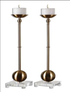 Laton Candleholders, Set/2