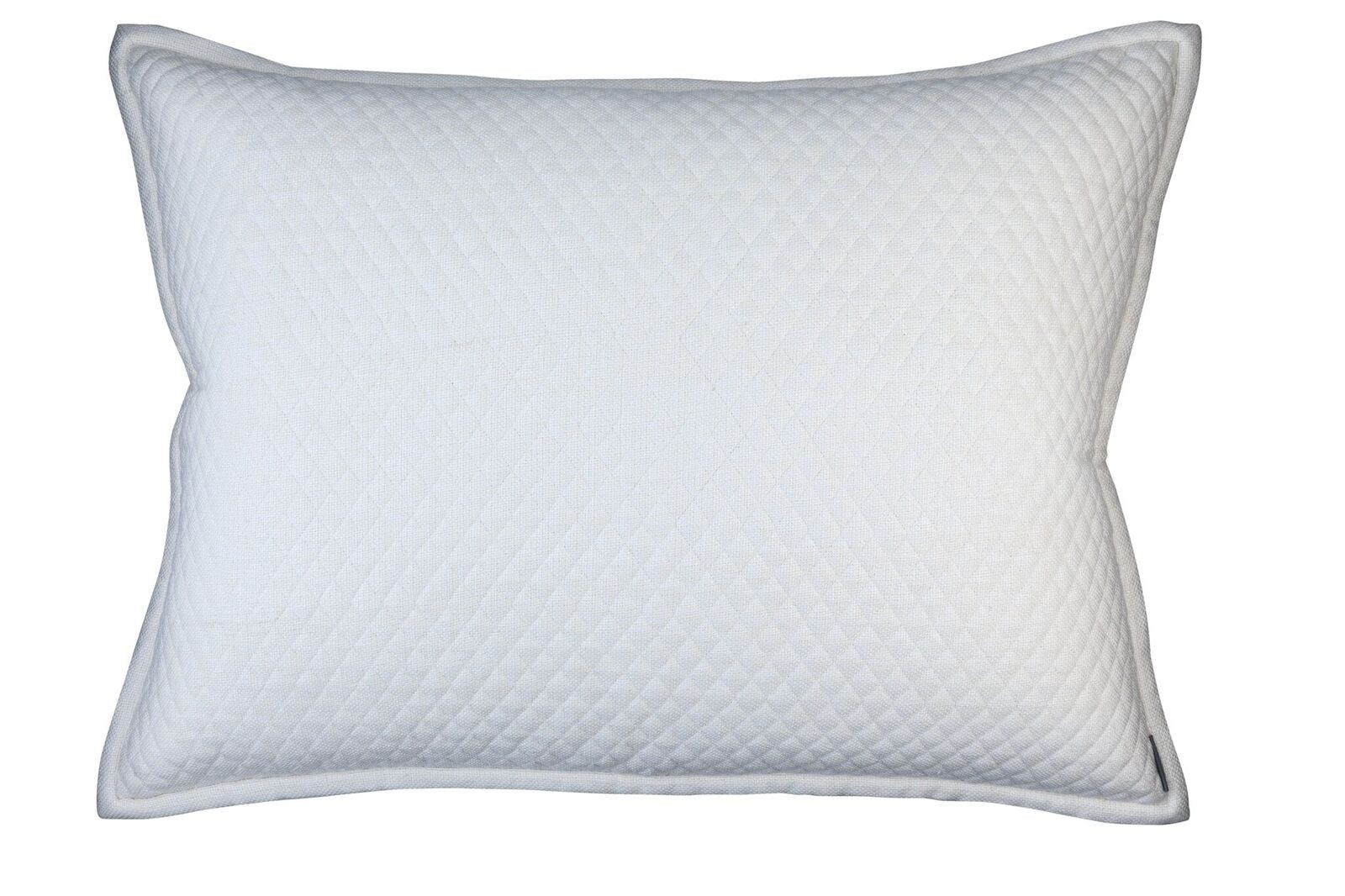 "LAURIE 1"" DIAMOND QUILTED LUXE EURO PILLOW IVORY BASKETWEAVE 27X36"