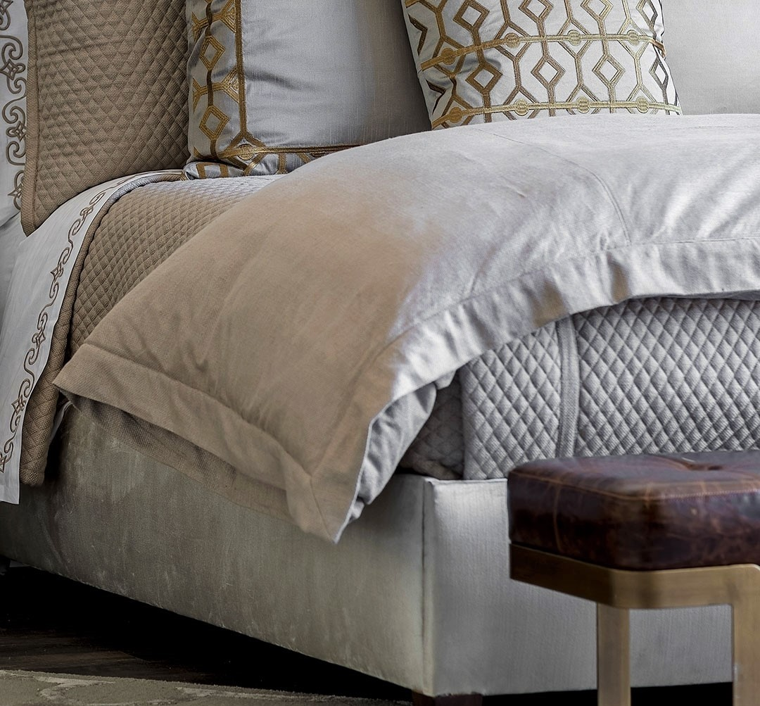 LAURIE KING DUVET - SOLID STONE BASKETWEAVE 112X98