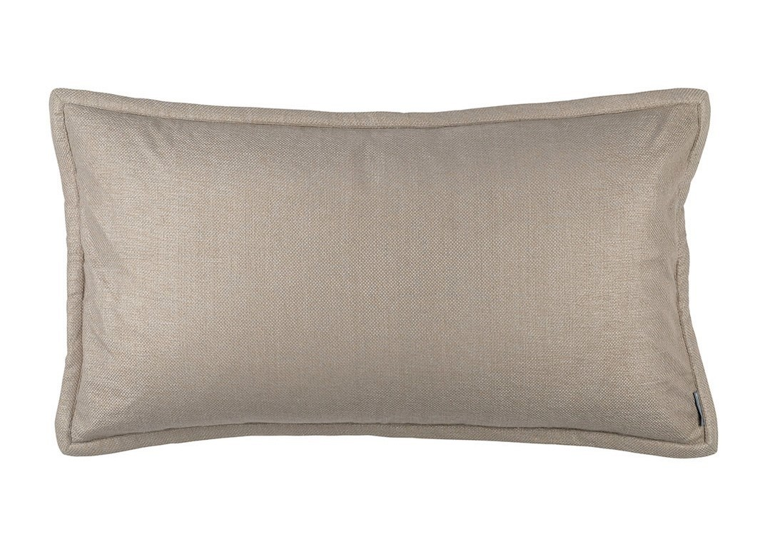 LAURIE KING PILLOW SOLID STONE BASKETWEAVE 20X36