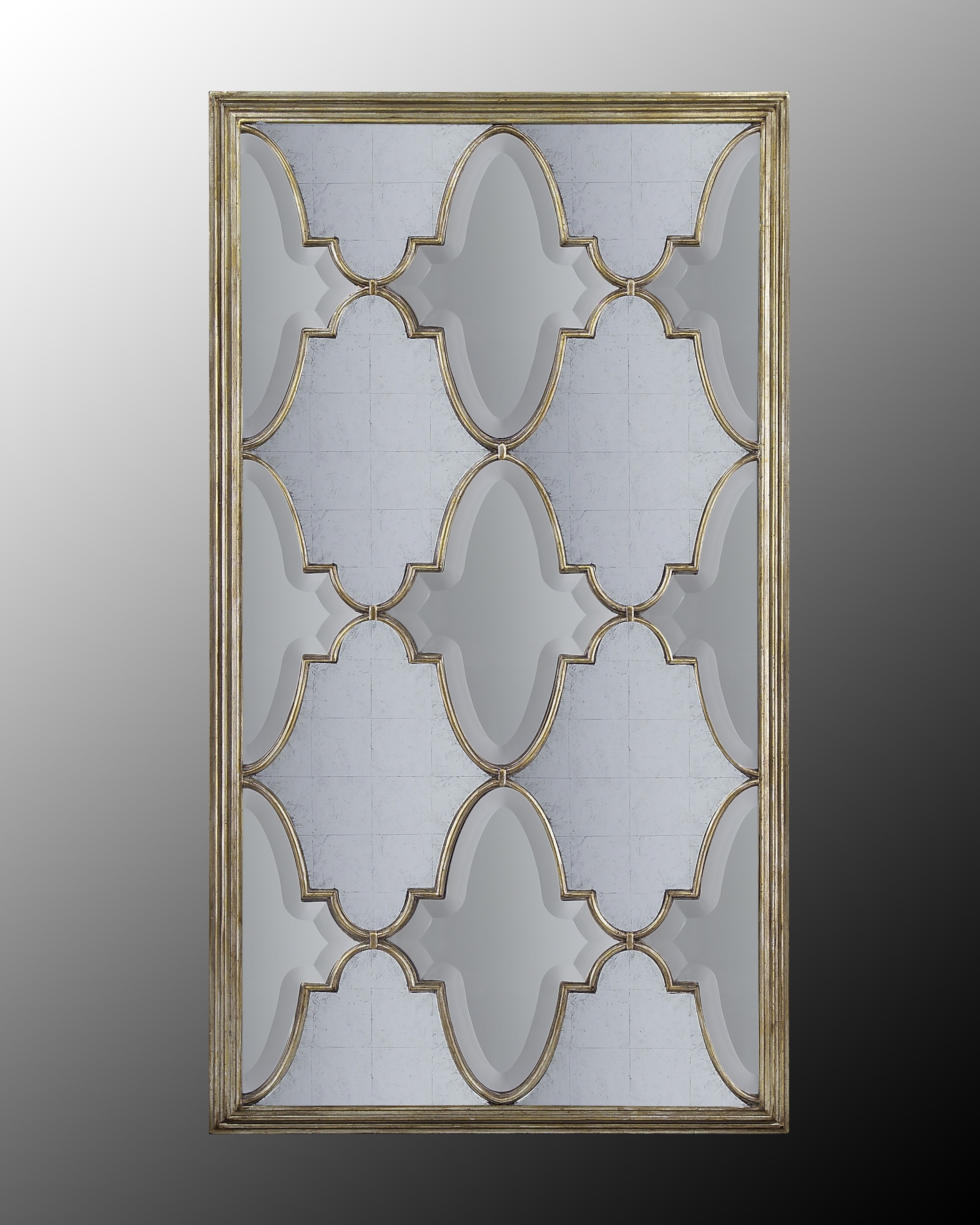 Michelle Venetian-Silver Mirror w/Eglomise & Beveled Panes