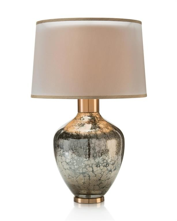 Hand-Blown Mottled Metallic Urn Table Lamp