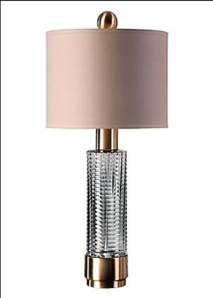 Renato Table Lamp, Glass