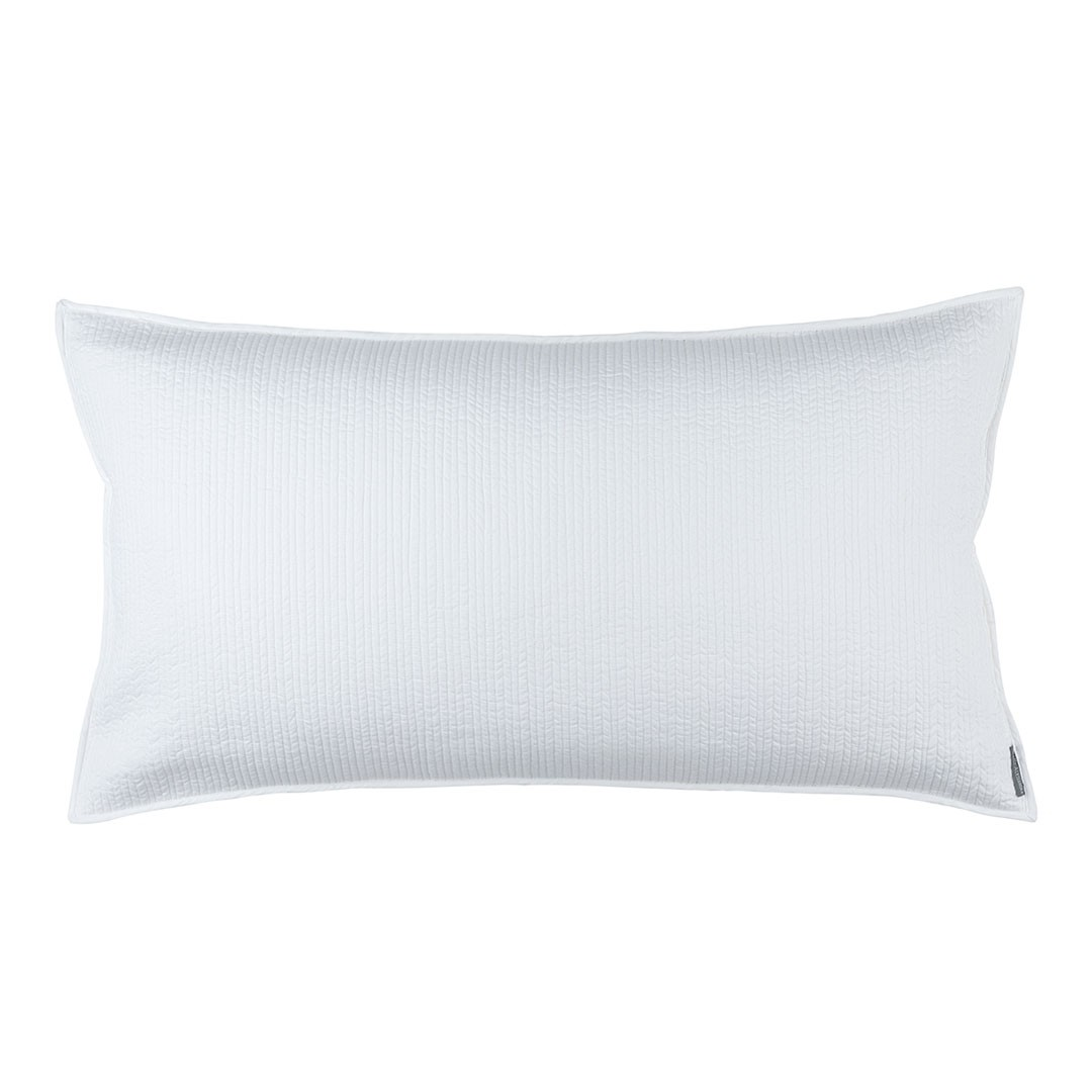 BATTERSEA KING PILLOW WHITE COTTON 20X36
