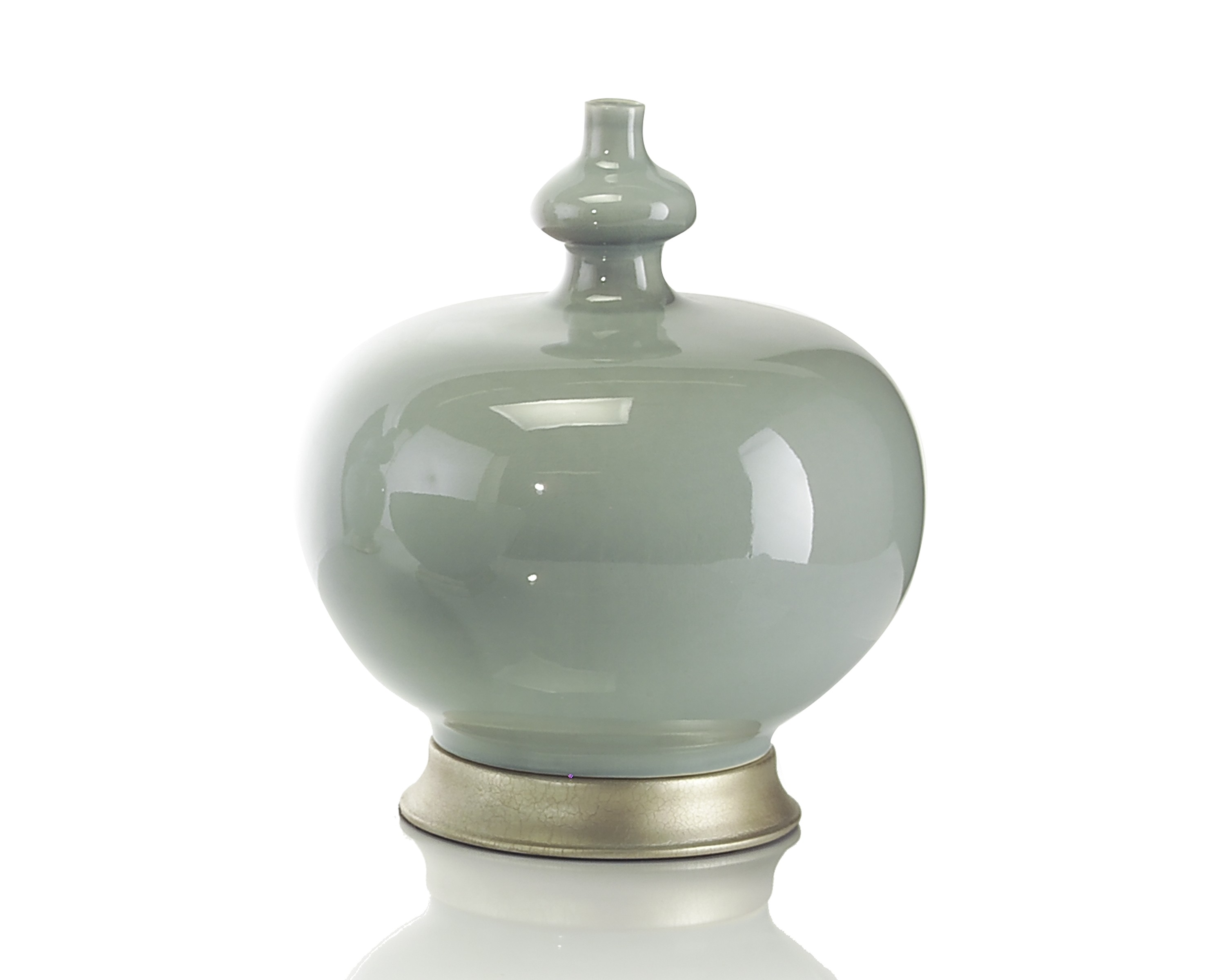 Sea Green Ceramic Jar