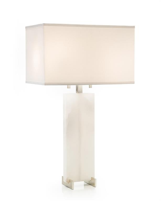 Solid Alabaster Table Lamp
