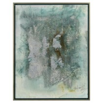 Amber Ivy Lane's Glacier Abstract Giclee in Blue, Green & Gray