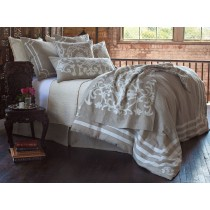 Angie Queen Duvet Natural/White Linen Luxury Bedding