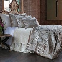 "Angie Champagne/Ivory Velvet King Luxury Bedding (112x98"")"