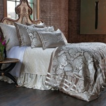ANGIE  CHAMPAGNE / IVORY VELVET BEDDING COLLECTION (King or Queen)  See Indvidual Pieces for Pricing