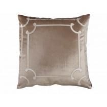 Angie Champagne/Ivory Velvet European Pillow