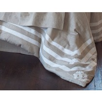 ANGIE KING DUVET / NATURAL LINEN / WHITE LINEN 110X96