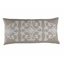 ANGIE LG. RECT. PILLOW / NATURAL LINEN / WHITE LINEN 18X36