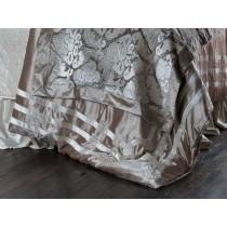 """Angie Champagne/Ivory Velvet Queen Duvet (96x98"""")"""
