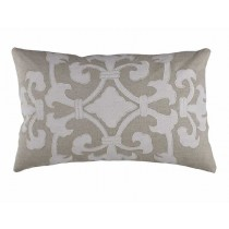 ANGIE NATURAL / WHITE LINEN SM. RECTANGLE PILLOW