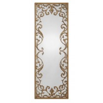 Apricena Decorative Mirror w/Antiqued Gold Leaf Border Design