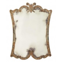 Arezzo Mirror in Aged/Distressed Gilt Silver