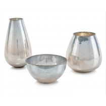Atlantic Sunrises Bowl & Vases, Set/3