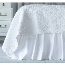 BATTERSEA GATHERED BED SKIRT / WHITE COTTON 3/22X86