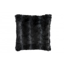 BLACK FUR EURO PILLOW 28X28