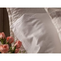 CASABLANCA 2 KING 300TC PILLOWCASES WHITE / WHITE KING